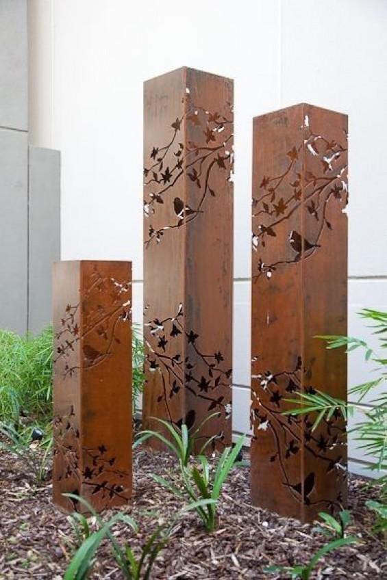 Metalen pilaren voor in de tuin | Passie voor techniek - EchtWerk.nl
