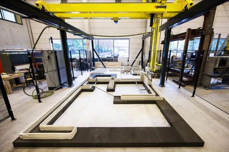 Kingsize 3D printer bouwt huizen op de TU/E | Passie voor techniek - EchtWerk.nl